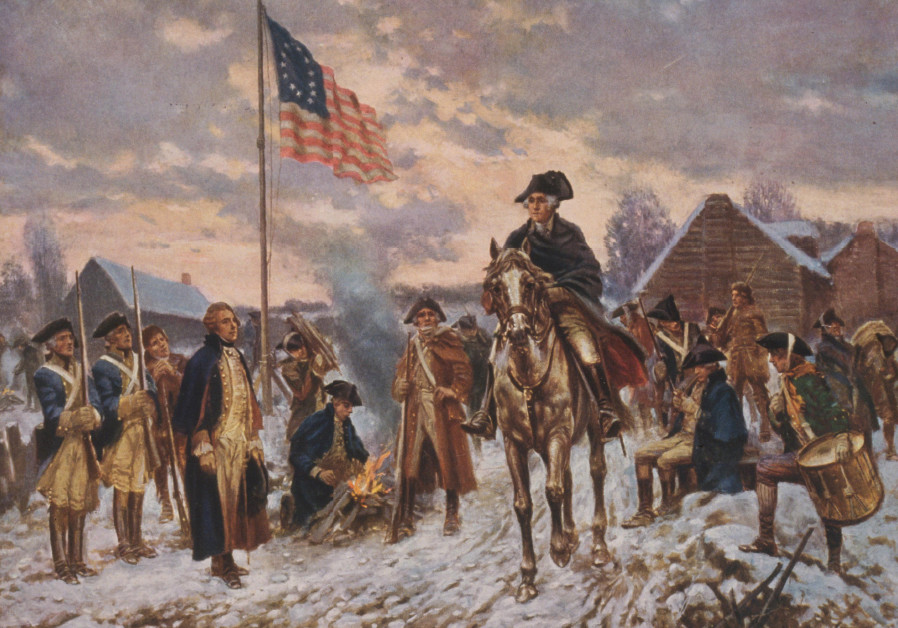 'WASHINGTON at Valley Forge' (c. 1911) by Edward P. Moran