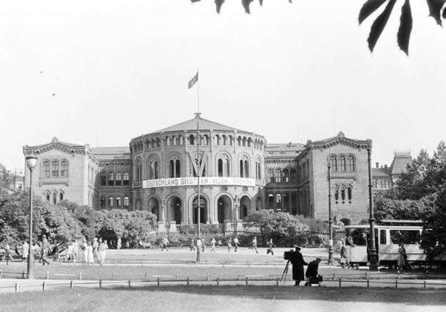 The Parliament of Norway Building under Nazi occupation during the Second World War