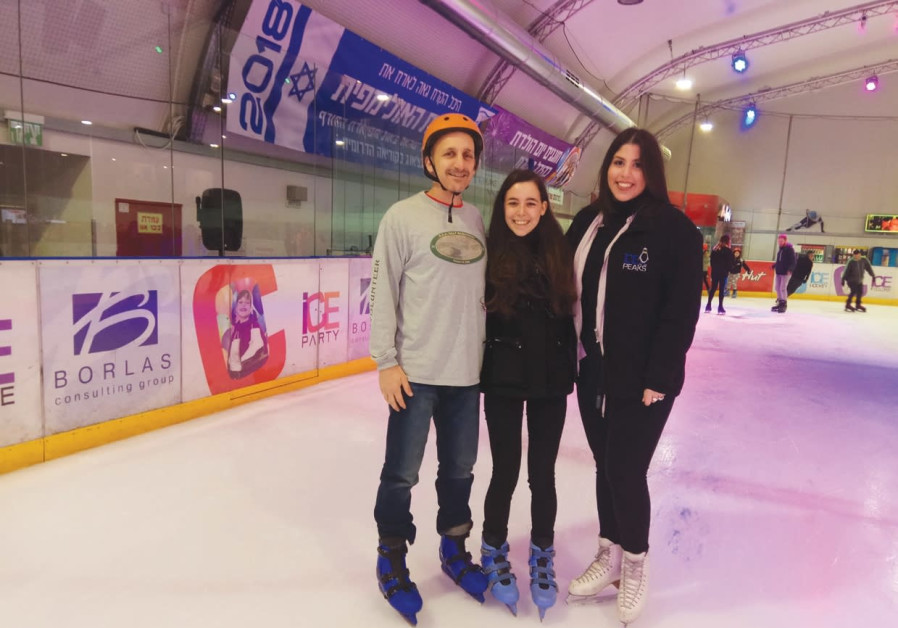 Family Day bonding on ice
