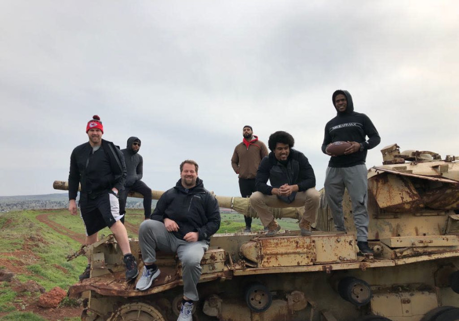 NFL players in Israel week after Super Bowl