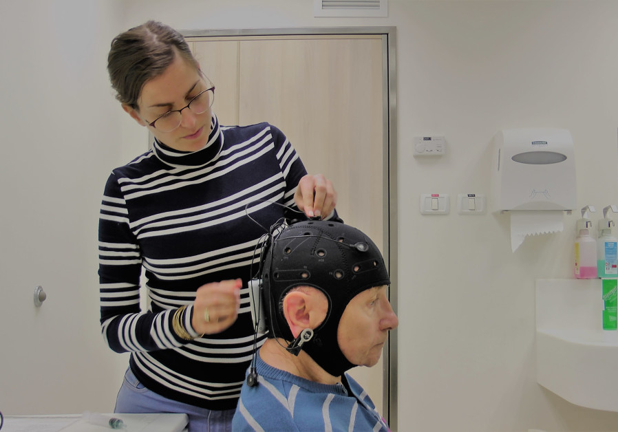 Brain stimulation used on a patient with Parkinsons