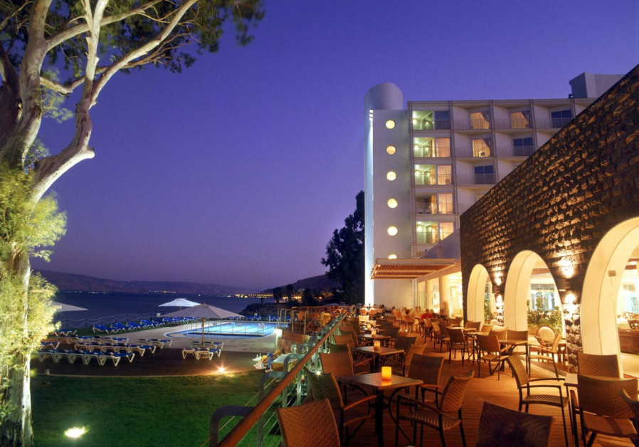 The Rimonim Galei Kinneret Hotel in Tiberias, on the shore of the Sea of Galilee.