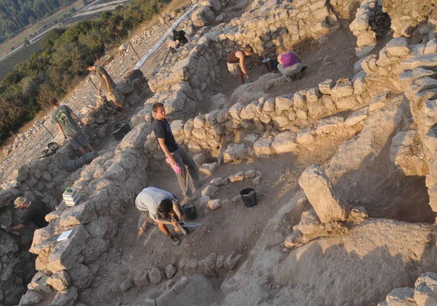 The Khirbet Qeiyafa shrine, 'Standing Stones'