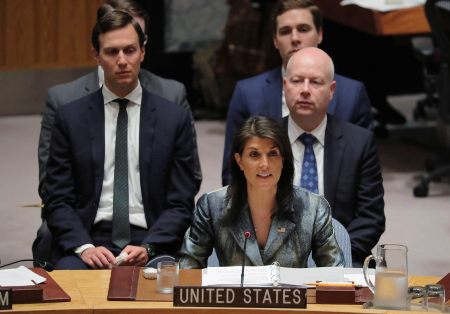 JPost Exclusive Trump team briefs Security Council on Mideast peace plan