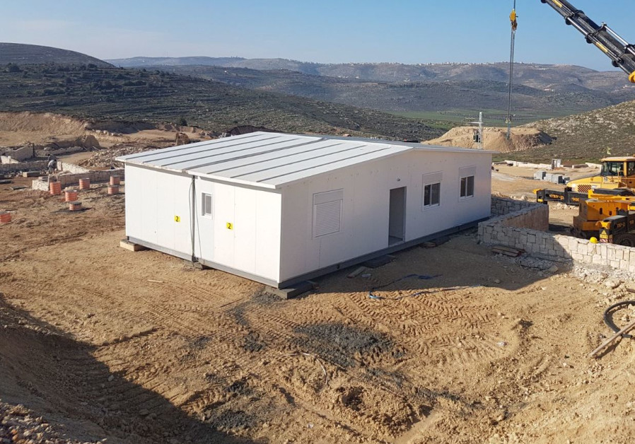 First 36 homes go up in new Amichai settlement