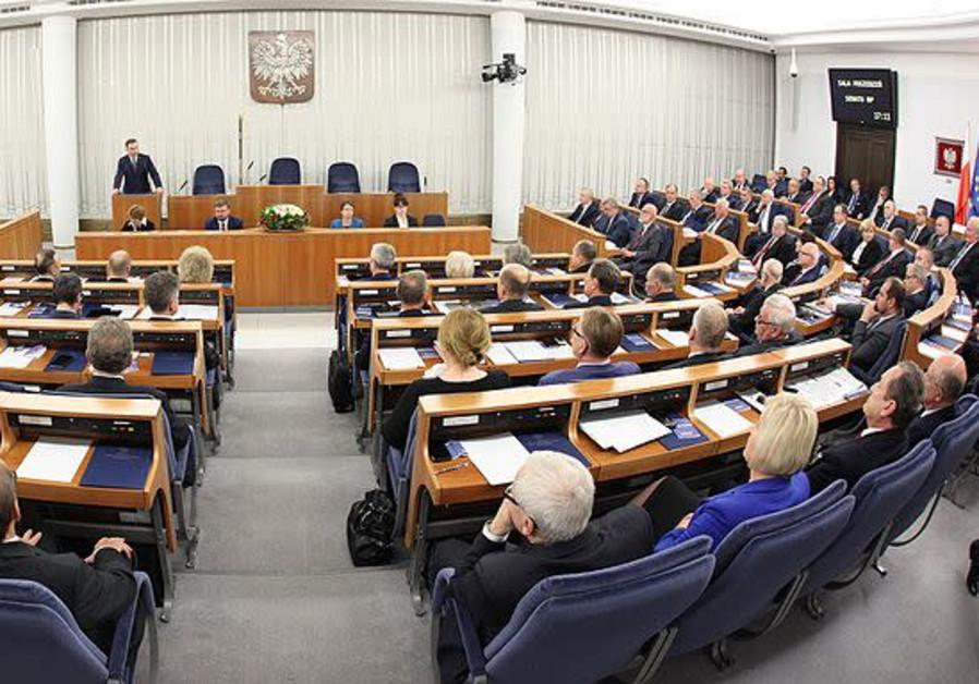 1st sitting the Polish Senate of the 9th term.
