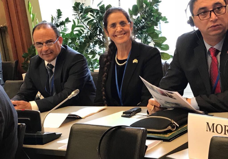 Likud lawmaker Anat Berko at a meeting of the Parliamentary Assembly of the Organization for Securit