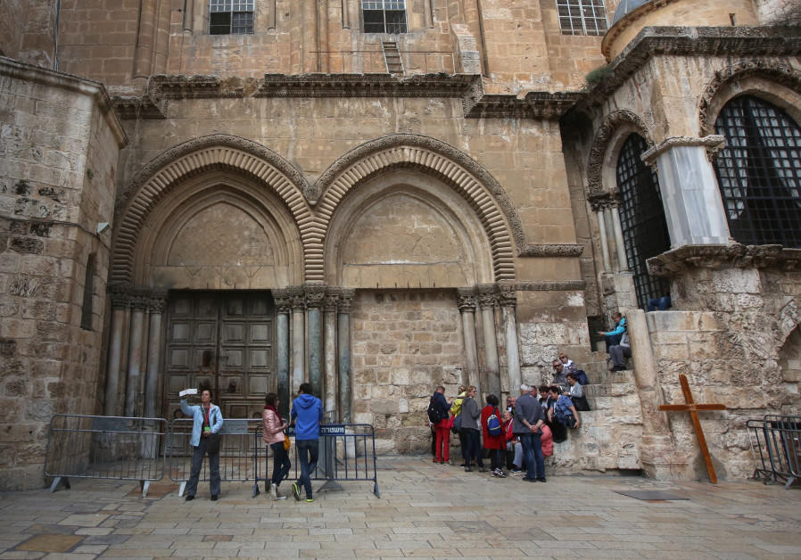 The Church of the Holy Sepulchre closed in protest of proposed property taxes, February 2018