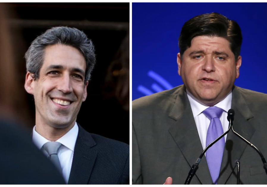 Illinois Governorial candidates Daniel Biss (left) and J.B. Pritzker