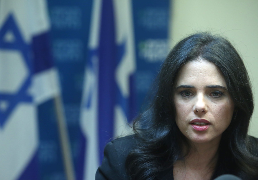 Shaked: Online Anti-Israel Incitement Rose Following Trump Embassy Decision