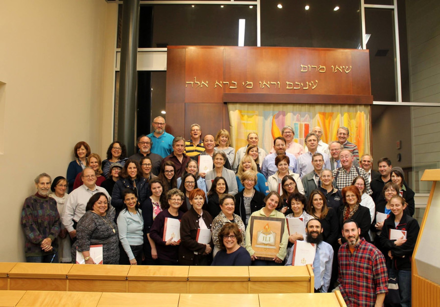 Professionals from a variety of Jewish backgrounds celebrate the completion of their Jewish Learning