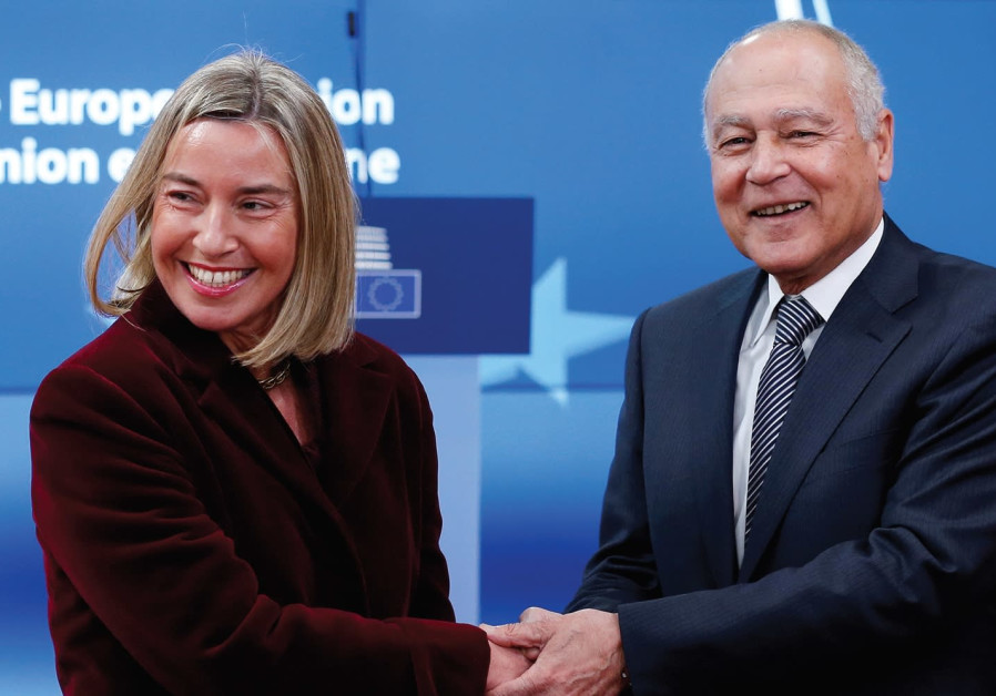 Mogherini and Ahmed Aboul Gheit