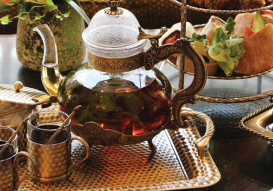 Tea at the Hilton hotel in Jerusalem