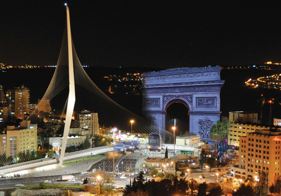 Purim Parody: Jerusalem entrance to be modeled on France's Champs-Elysees