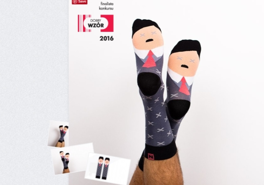 "The ""Adolf"" socks by Polish company Nanushki"