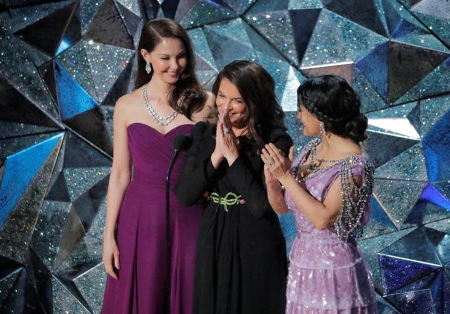 Actresses  Ashley Judd, Annabella Sciorra and Salma Hayek.