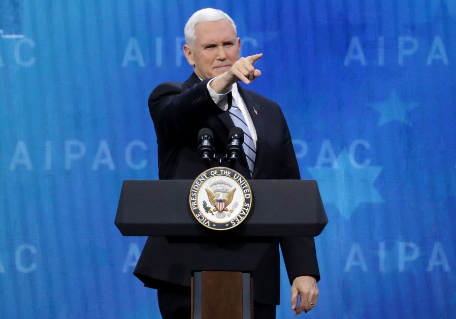 US Vice President Mike Pence addresses AIPAC, March 2018