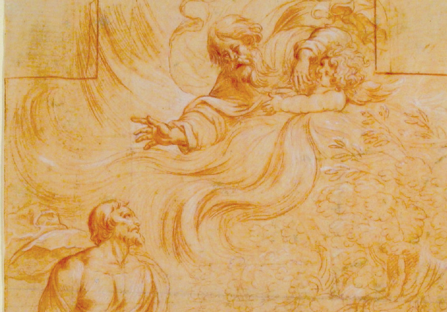 A DRAWING by Pierre Brébiette c. 1632 depicting God appearing to Moses