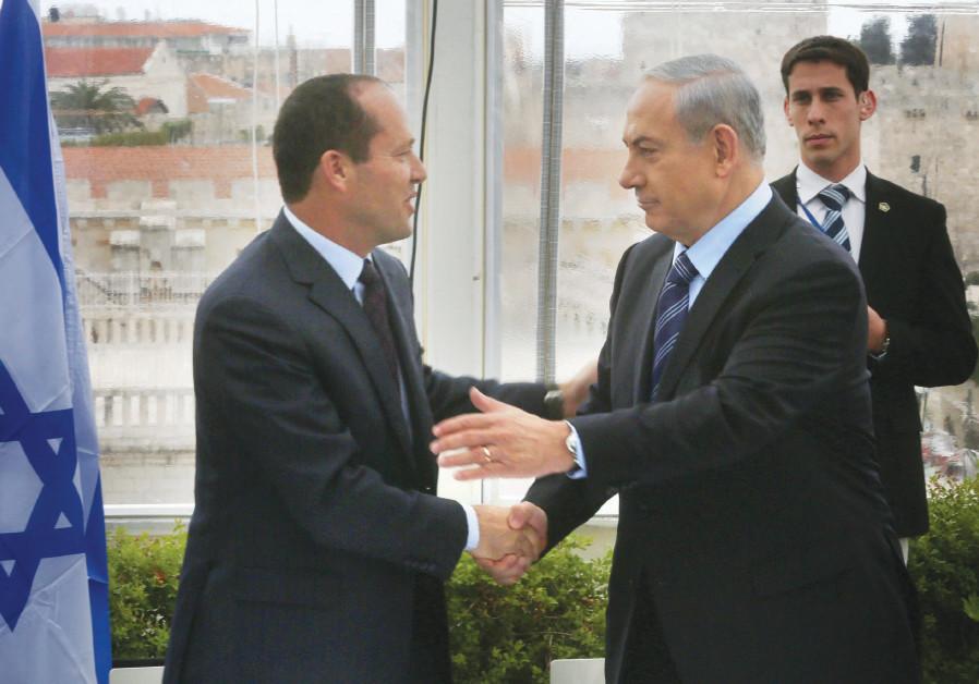 Jerusalem Mayor Nir Barkat with Prime Minister Benjamin Netanyahu
