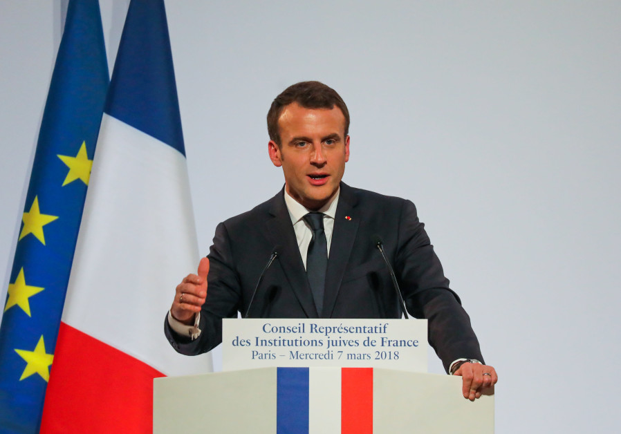 French President Emmanuel Macron attends the 33rd annual dinner of the Representative CRIF in Pari