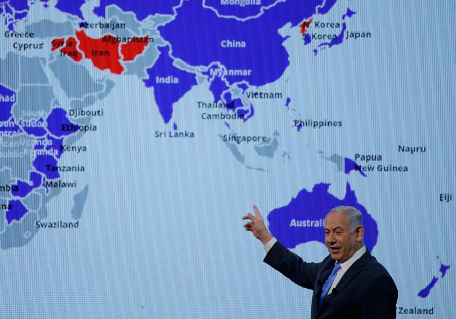 Prime Minister Benjamin Netanyahu speaks at the AIPAC policy conference in Washington