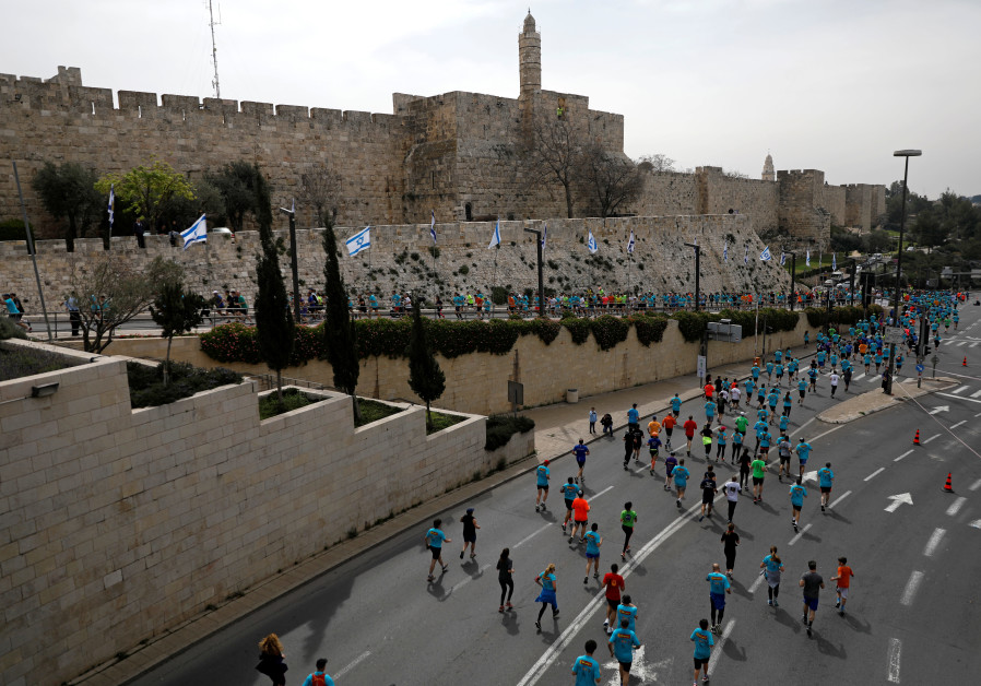 Jerusalem runners on their marks for 8th marathon
