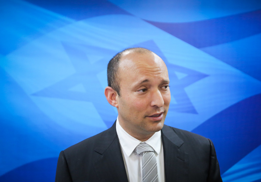 Education Minister Naftali Bennet at coalition meeting, March 11, 2018