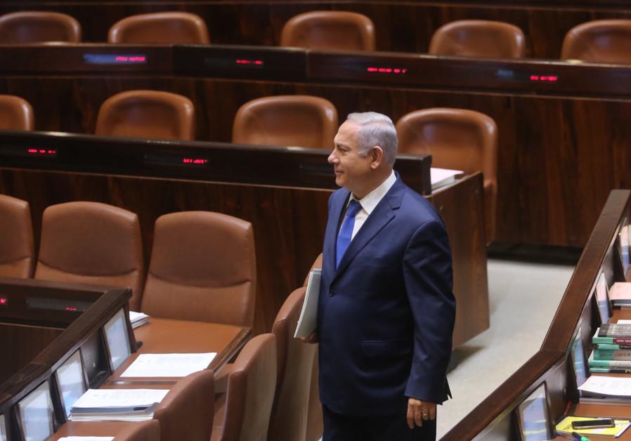 Prime Minister Benjamin Netanyahu in the Knesset