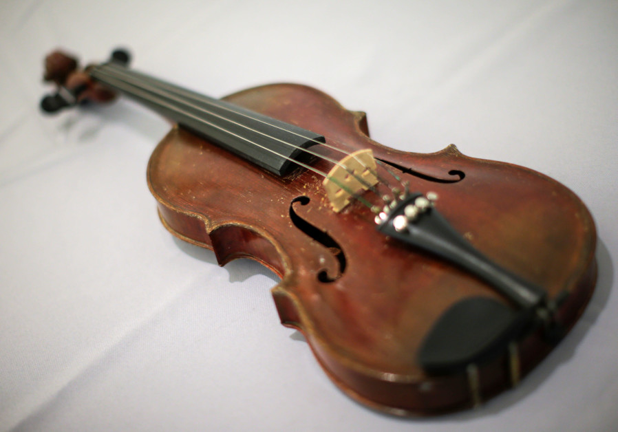 Albert Einstein's violin is displayed at Bonhams auction house in New York, US, March 6, 2018