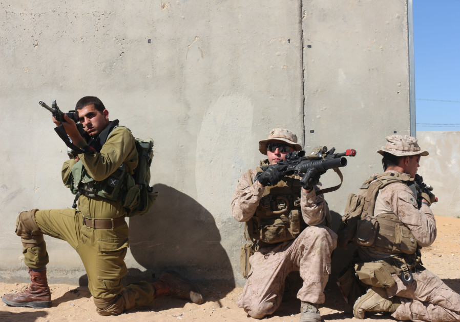 IDF troops drill alongside US Marines as part of Juniper Cobra 2018​