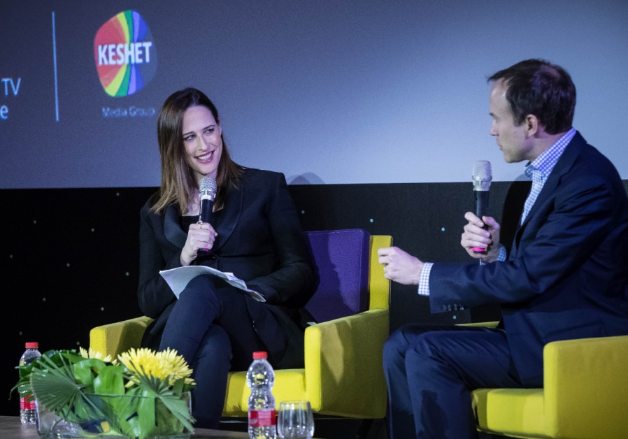 David Rhodes and Yonit Levi at the Keshet INTV conference