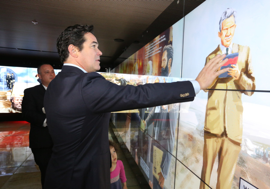 Actor Dean Cain visits the Friends of Zion Museum in Jerusalem