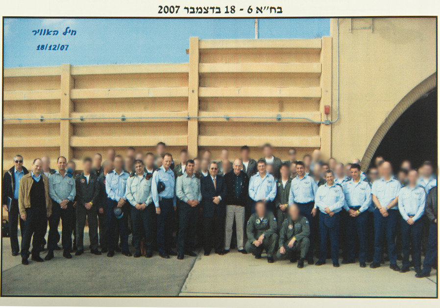A picture of all the IAF pilots that participated in the operation of bombing a Syrian nuclear react