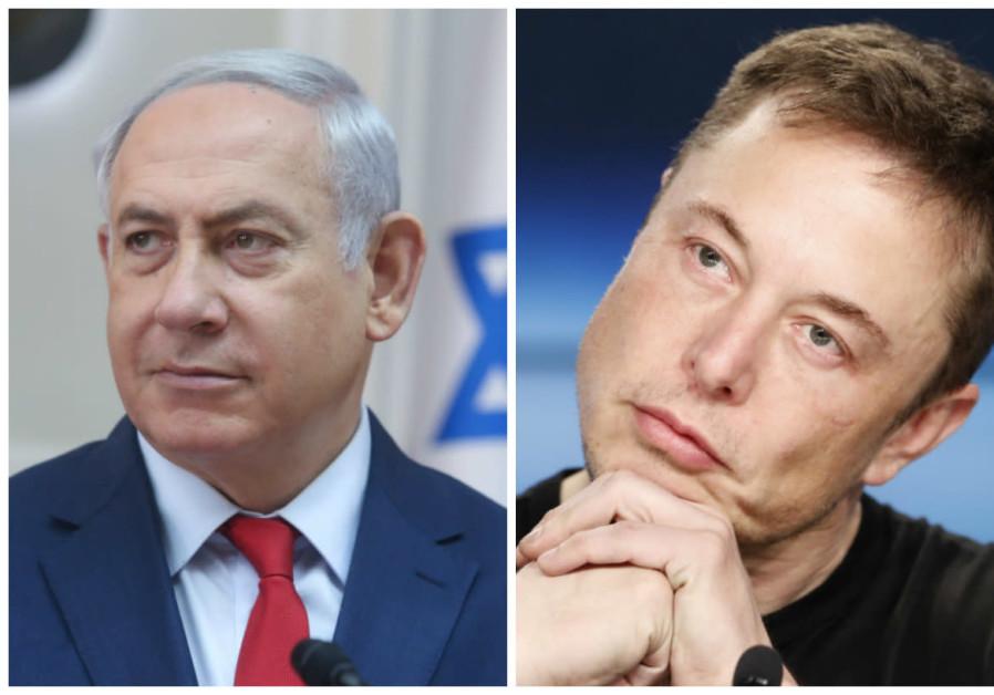 Benjamin Netanyahu and Elon Musk