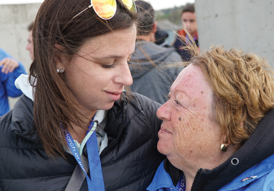 MICHELLE EKSTEIN comforts her grandmother, Anita Ekstein (Michelle Ekstein)