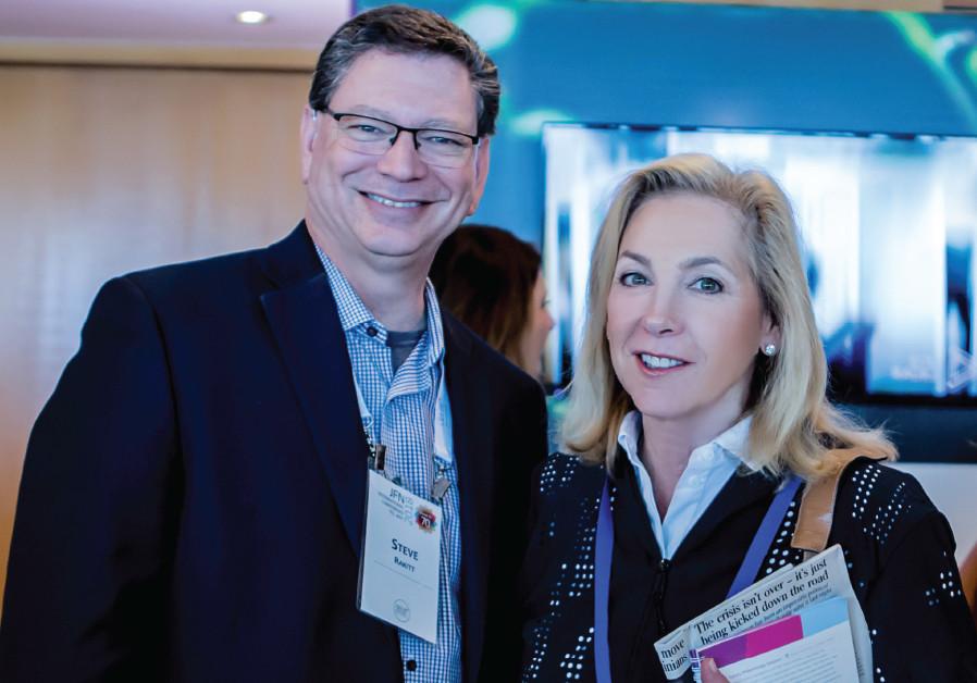 STEVE RAKITT, president, Genesis Prize Foundation and Jill Smith, senior adviser to the chai