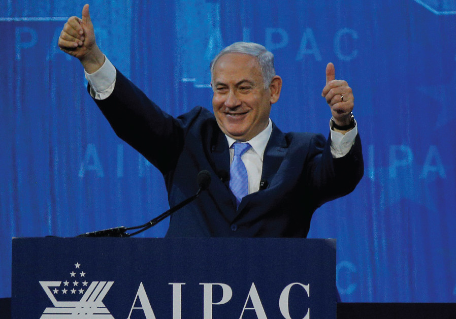 PRIME MINISTER Benjamin Netanyahu received a warm welcome during AIPAC's policy conference in Washin