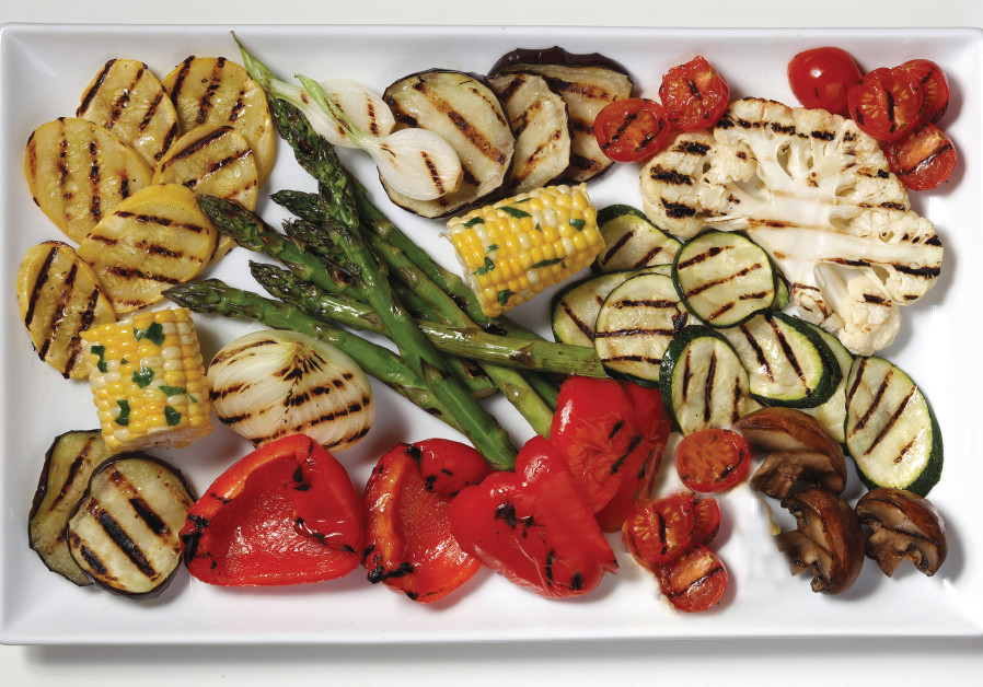 The Palm Pool at Ein Fesh'haGrilled vegetables in a red-wine marinade (Illustrative)
