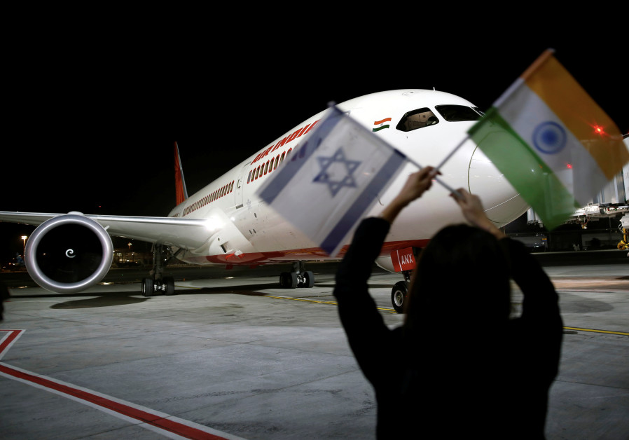Air India flight to Tel Aviv flies over Saudi Arabia