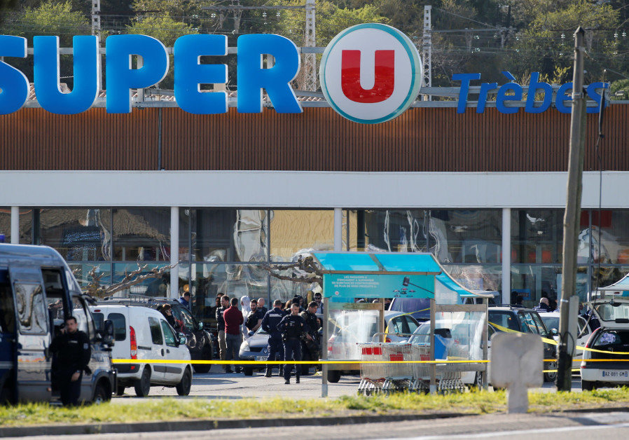 Gunman shot dead after three killed in French shooting, supermarket attack