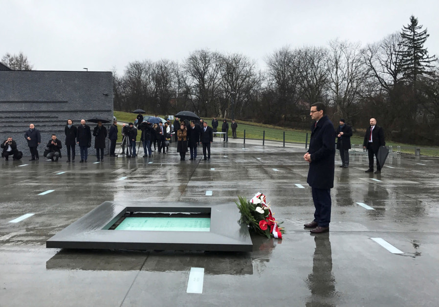 Poland's Prime Minister Mateusz Morawiecki visits the Ulma Family Museum of Poles Who Saved Jews