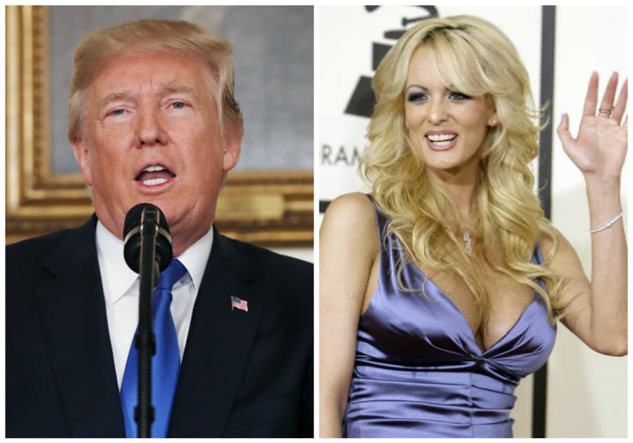 United States President Donald Trump and adult film actress Stormy Daniels