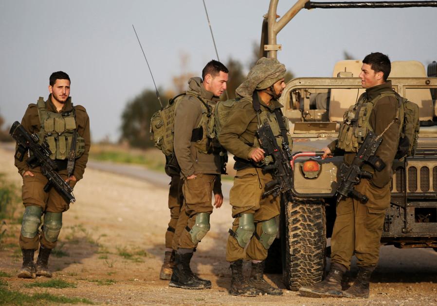 soldiers near Kibbutz Nirim