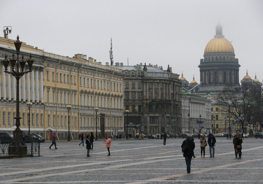 A general view shows the Saint Isaac's Cathedral in St. Petersburg, Russia