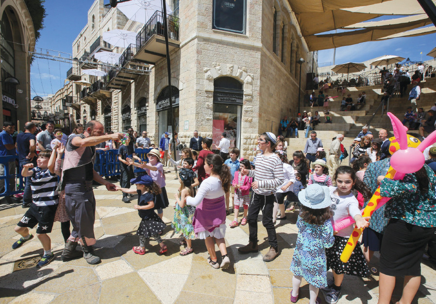 Celebrating Hol Hamoed throughout Mamilla Mall and the Old City