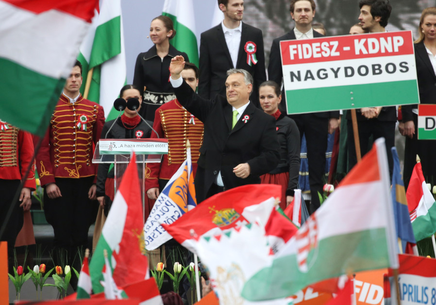 Hungary's Prime Minister Viktor Orban speaks during Hungary's National Day celebrations in Budapest