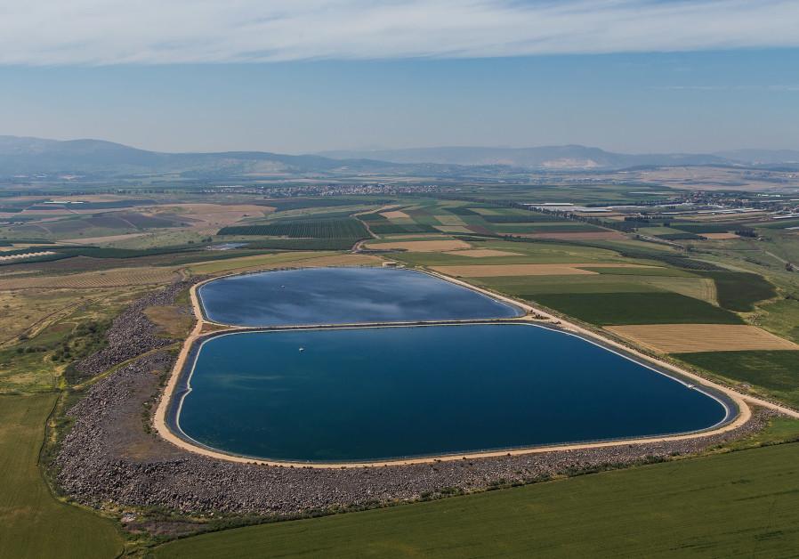 JNF's Sharona Reservoir in the Upper Eastern Galilee