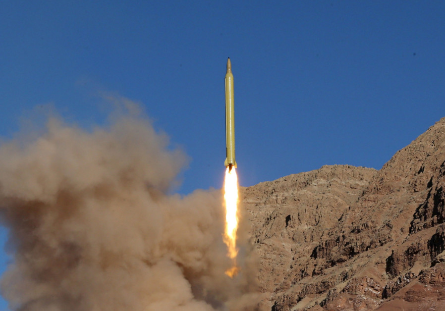 An Iranian missle launches from a test site