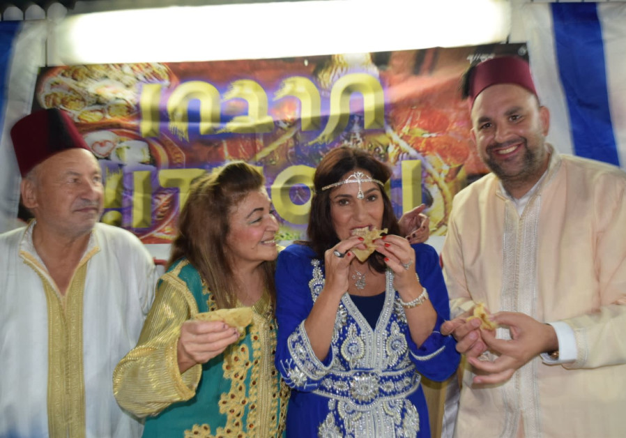 Minister of Culture and Sports Miri Regev opens the Mimouna celebrations at the home of the Mayor of