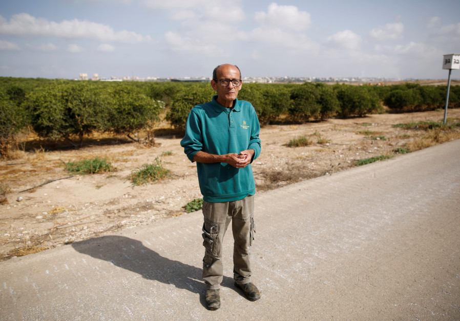 Farmer Daniel Rahamim in Kibbutz Nahal Oz, near the Gaza Strip border, Israel April 8, 2018